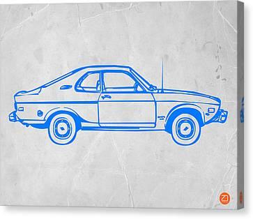 Blue Car Canvas Print by Naxart Studio