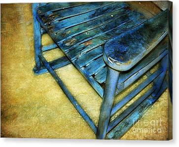 Blue Chair Canvas Print by Judi Bagwell