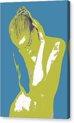 Blue Drama Canvas Print by Naxart Studio