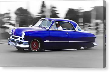Blue Ford Customline Canvas Print by Phil 'motography' Clark