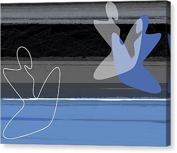 Blue Girls Canvas Print by Naxart Studio