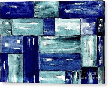 Blue Green Blue Canvas Print by Marsha Heiken