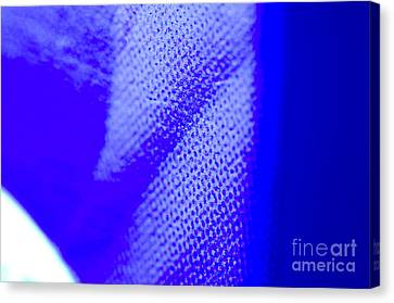 Blue Halftone Abstract Photograph Texture In Bright Full Tones Of Blue Canvas Print by Andy Smy