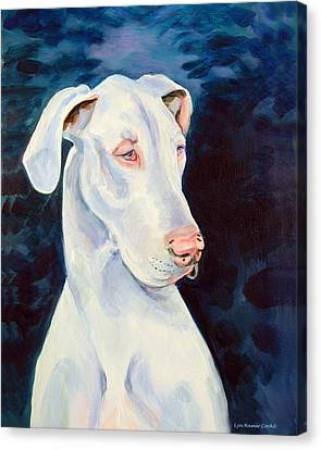 Blue Ice Great Dane Canvas Print by Lyn Cook