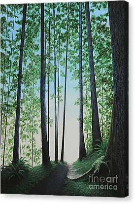 Blue In Green Canvas Print by Dan Lockaby