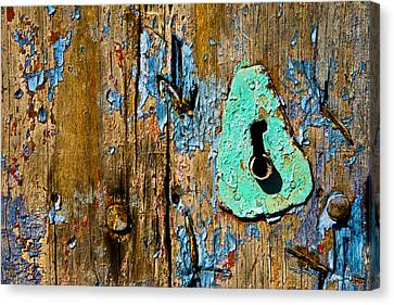 Blue Keyhole Canvas Print by Mark Weaver