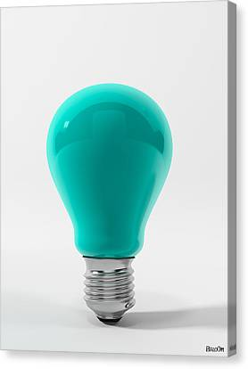 Blue Lamp Canvas Print by BaloOm Studios