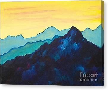 Blue Mountain II Canvas Print by Silvie Kendall