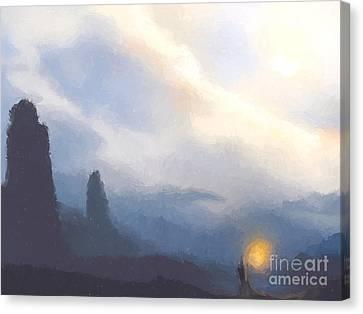 Blue Mountains  Canvas Print by Pixel  Chimp