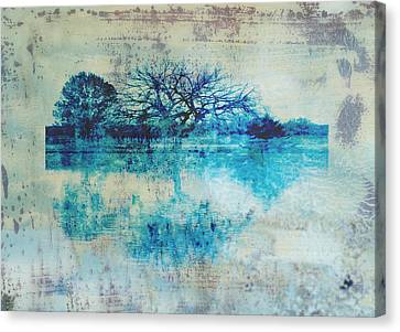 Blue On Blue Canvas Print by Ann Powell