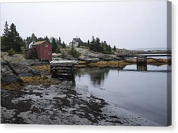 Blue Rocks Nova Scotia 8 Canvas Print by John Burnett