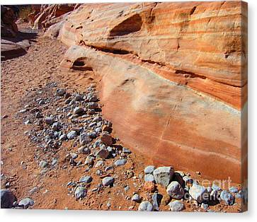 Blue Rocks Canvas Print by Silvie Kendall