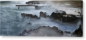 Blue Storm..protaras Canvas Print by Stelios Kleanthous
