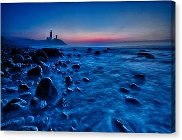 Blue Tide Canvas Print by Rick Berk