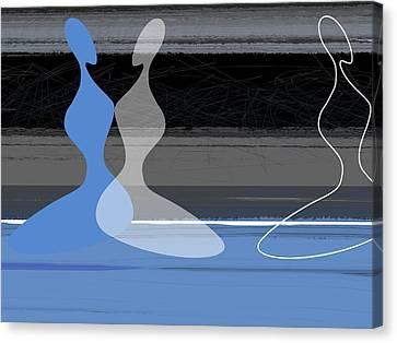 Blue Women Canvas Print by Naxart Studio