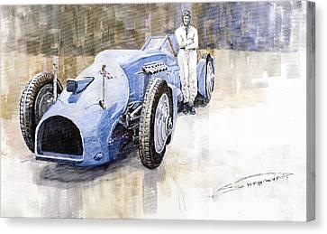 Bluebird 1933 Daytona Malkolm Campbell Canvas Print by Yuriy  Shevchuk