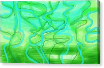 Bluzul Vergreen II Canvas Print by Rosana Ortiz