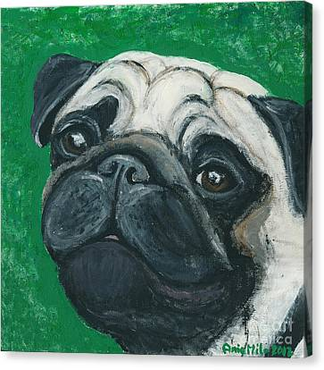 Bo The Pug Canvas Print by Ania M Milo