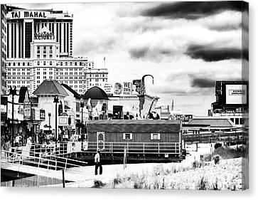 Boardwalk Casinos Canvas Print by John Rizzuto