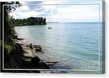 Boat On Lake Ontario Canvas Print by Rose Santuci-Sofranko