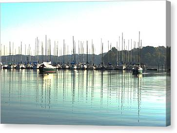 Boat Reflections Canvas Print by Bill Kennedy