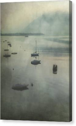 Boats In Mist Canvas Print by Joana Kruse