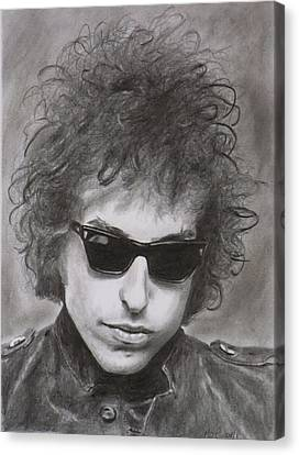 Bob Dylan Canvas Print by Mike OConnell