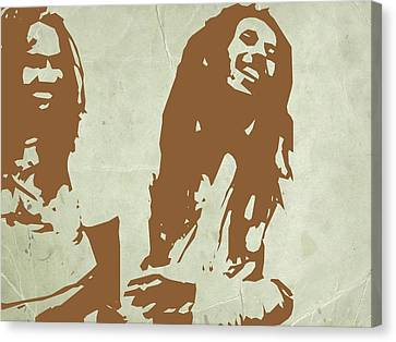 Bob Marley Brown 2 Canvas Print by Naxart Studio