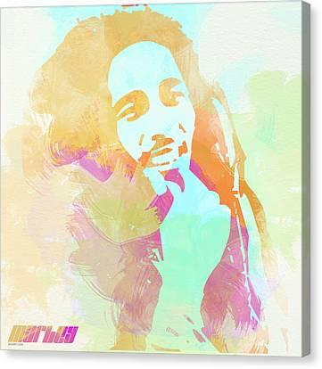 Bob Marley Canvas Print by Naxart Studio