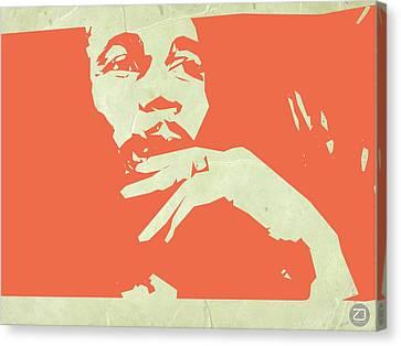 Bob Marley Orange Canvas Print by Naxart Studio