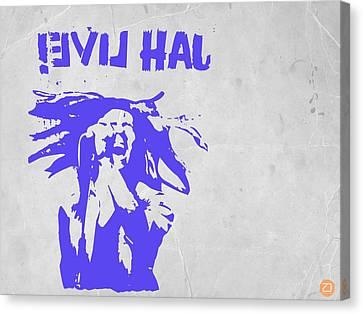 Bob Marley Purple 2 Canvas Print by Naxart Studio