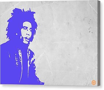 Bob Marley Purple 3 Canvas Print by Naxart Studio