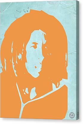 Bob Marley Yellow 2 Canvas Print by Naxart Studio