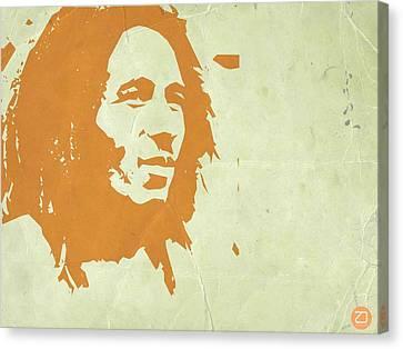 Bob Marley Yellow 3 Canvas Print by Naxart Studio