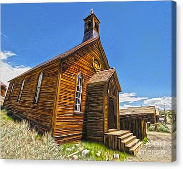 Bodie Ghost Town - Church 04 Canvas Print by Gregory Dyer