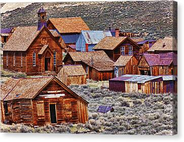 Bodie Ghost Town California Canvas Print by Garry Gay