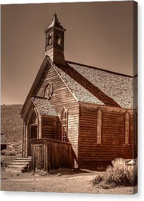 Bodie State Historic Park California Church Canvas Print by Scott McGuire