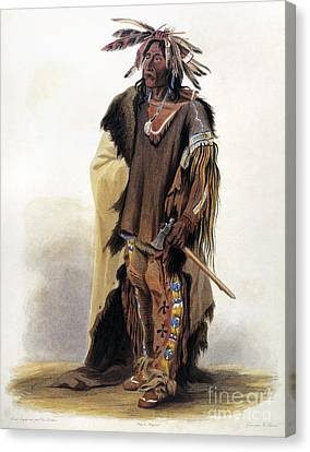 Bodmer: Sioux Chief Canvas Print by Granger