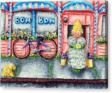 Bon Bon Betty Canvas Print by Alison  Galvan