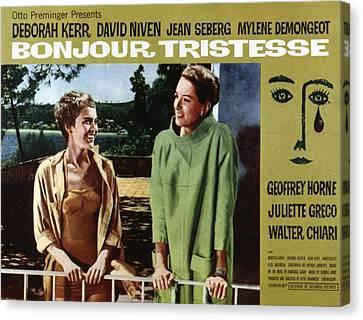 Bonjour Tristesse, Jean Seberg, Deborah Canvas Print by Everett