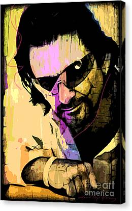 Bono Canvas Print by David Lloyd Glover