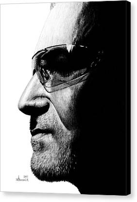 Bono - Half The Man Canvas Print by Kayleigh Semeniuk