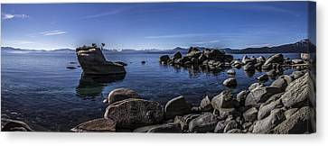 Bonsai Rock Lake Tahoe Canvas Print by Brad Scott