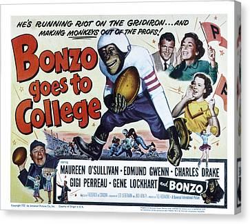 Bonzo Goes To College, Edmund Gwenn Canvas Print by Everett