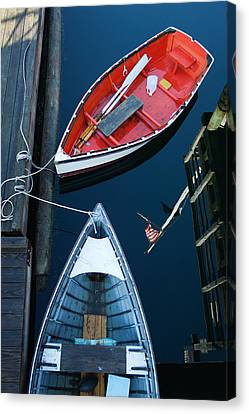 Boothbay Boats 1 Canvas Print by Ron St Jean