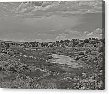 Borderland Tanks Canvas Print by Joshua House