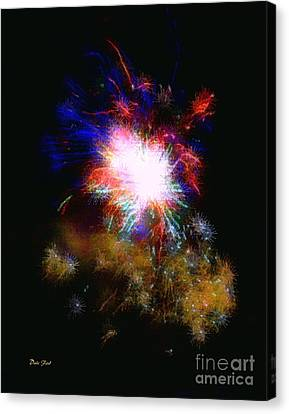 Born On The 4th Of July Canvas Print by Dale   Ford