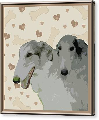 Borzoi Canvas Print by One Rude Dawg Orcutt