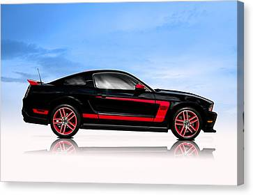 Boss Mustang Canvas Print by Douglas Pittman