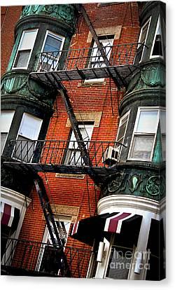 Boston House Fragment Canvas Print by Elena Elisseeva